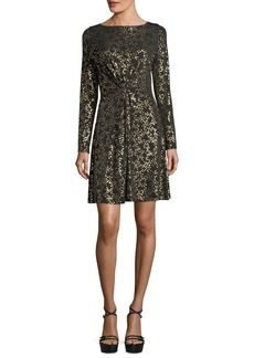 MICHAEL Michael Kors Twist-Front Star-Foil Dress