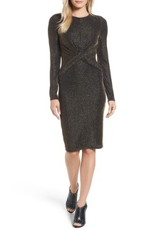 MICHAEL Michael Kors Twist Waist Metallic Dress