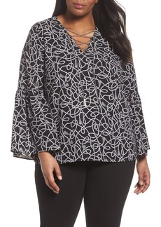 MICHAEL Michael Kors Twisted Rope Blouse (Plus Size)