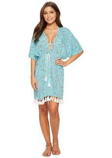 MICHAEL Michael Kors Twisted Rope Caftan Cover-Up w/ Tassels