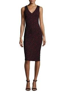 MICHAEL Michael Kors Umbria Sleeveless V-Neck Lace Sheath Dress