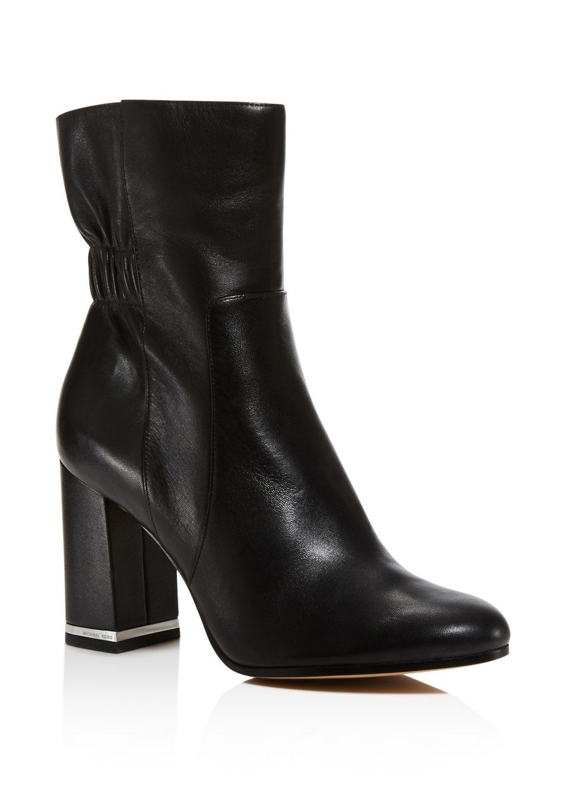 MICHAEL Michael Kors Ursula Ruched Leather Ankle Boots - 100% Exclusive