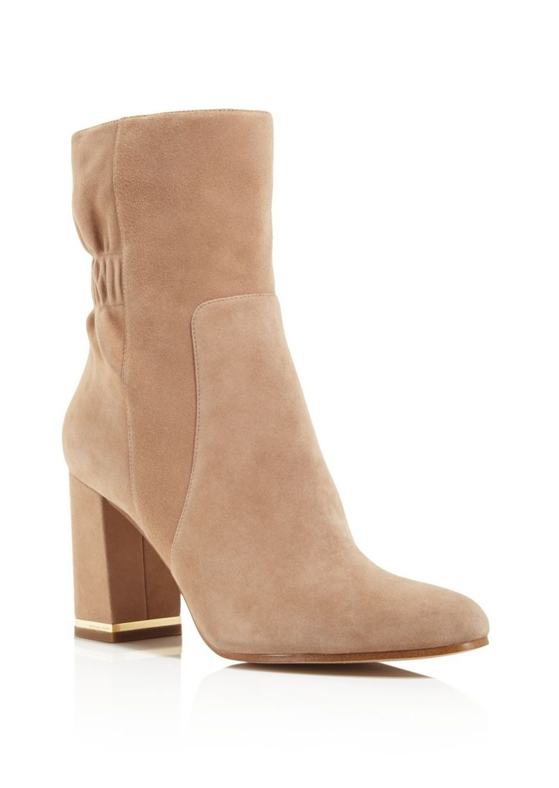 MICHAEL Michael Kors Ursula Ruched Mid Calf Booties - 100% Exclusive