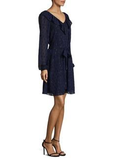 MICHAEL MICHAEL KORS V-Neck Jacquard Dress