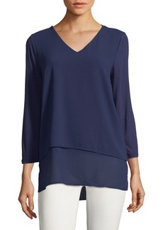 MICHAEL Michael Kors V-Neck Layered Top