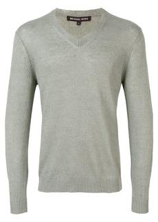 Michael Michael Kors v-neck longsleeve sweater - Green