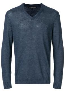 Michael Michael Kors v-neck longsleeved sweater - Blue