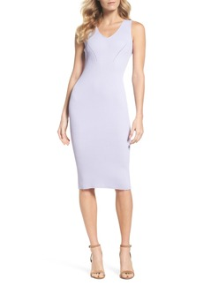 MICHAEL Michael Kors V-Neck Rib Knit Sweater Dress