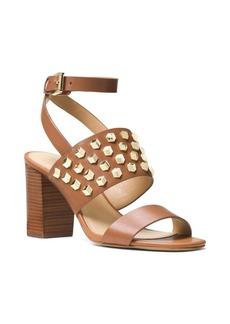 MICHAEL MICHAEL KORS Valencia Leather Ankle Strap Sandals