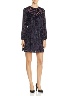 MICHAEL Michael Kors Velvet Burnout Tiger Stripe Dress