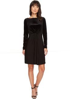 MICHAEL Michael Kors Velvet Matte Jersey Mix Twist Dress