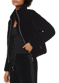 MICHAEL Michael Kors Velvet Puffer Jacket