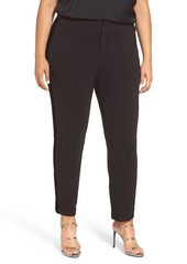 MICHAEL Michael Kors Velvet Side Stripe Ponte Pants (Plus Size)