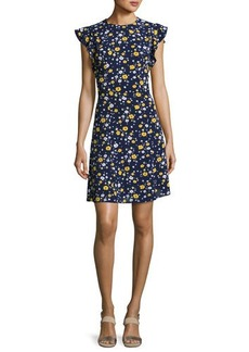 MICHAEL Michael Kors Verbena Flounce-Sleeve Dress