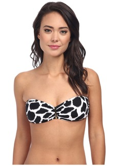 MICHAEL Michael Kors Water Ikat Logo Bar Bandeau Bra Top
