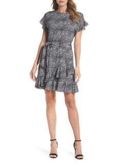 MICHAEL Michael Kors Wavy Leopard Print Ruffle Dress