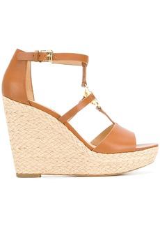 Michael Michael Kors wedge heel logo sandals - Brown