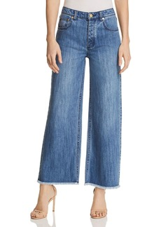 MICHAEL Michael Kors Wide-Leg Cropped Jeans in Antique Wash - 100% Exclusive