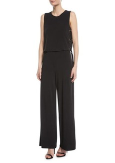 MICHAEL Michael Kors Wide-Leg Lace-Up Jumpsuit
