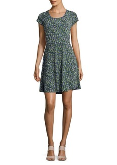 MICHAEL Michael Kors Wildflower Cap-Sleeve Dress
