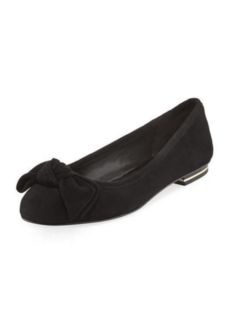 michael michael kors michael michael kors willa suede ballerina flat shoes shop it to me. Black Bedroom Furniture Sets. Home Design Ideas