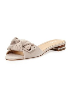 MICHAEL Michael Kors Willa Suede Flat Slide Sandal