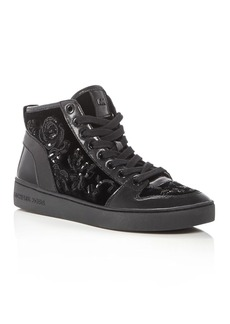 MICHAEL Michael Kors Willow Embellished Velvet High Top Sneakers