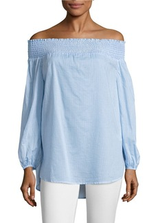 MICHAEL MICHAEL KORS Wilson Striped Off-the-Shoulder Top