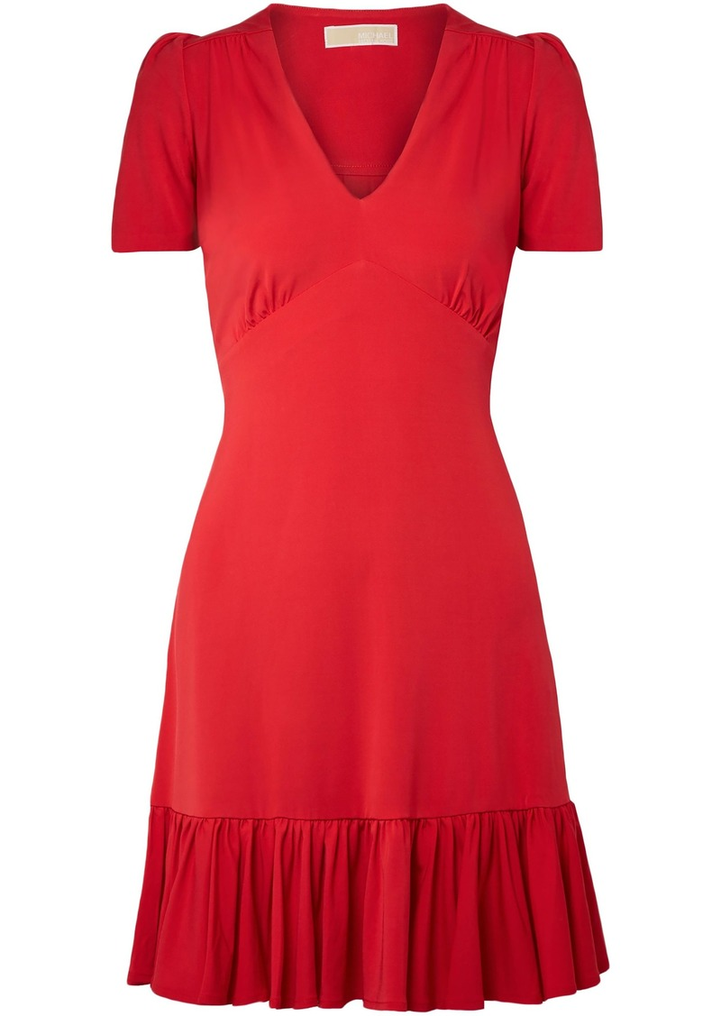 Michael Michael Kors Woman Stretch-jersey Dress Red