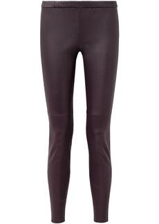 Michael Michael Kors Woman Stretch-leather Leggings Merlot