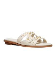 MICHAEL Michael Kors Women's Annalee Studded Slide Sandals