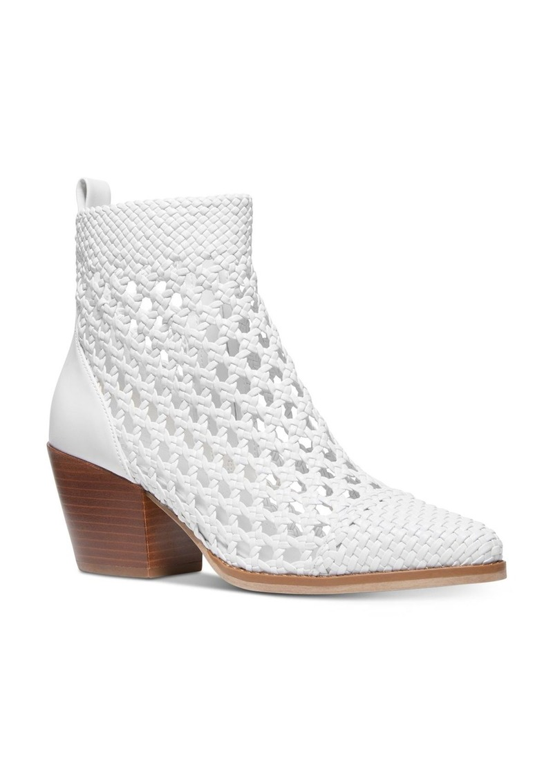 MICHAEL Michael Kors Women's Augustine Woven Leather Booties