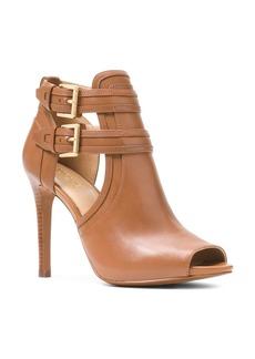 MICHAEL Michael Kors Women's Blaze Open-Toe Leather High-Heel Booties