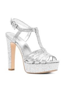 MICHAEL Michael Kors Women's Catalina Glitter T-Strap Platform Sandals