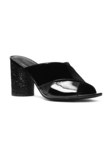 MICHAEL Michael Kors Women's Cher Patent Leather Mid Heel Mules