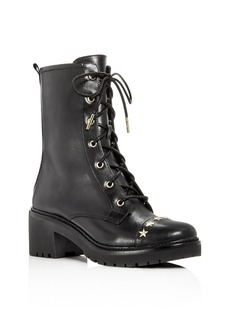 MICHAEL Michael Kors Women's Cody Leather Embellished Lace Up Boots