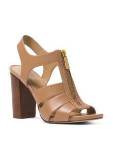 MICHAEL Michael Kors Women's Damita Leather Zip High-Heel Sandals
