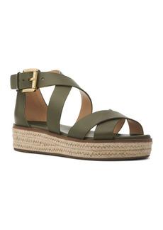 MICHAEL Michael Kors Women's Darby Leather Espadrille Sandals