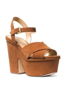 MICHAEL Michael Kors Women's Divia Open-Toe Platform Suede Wedge Heel Sandals