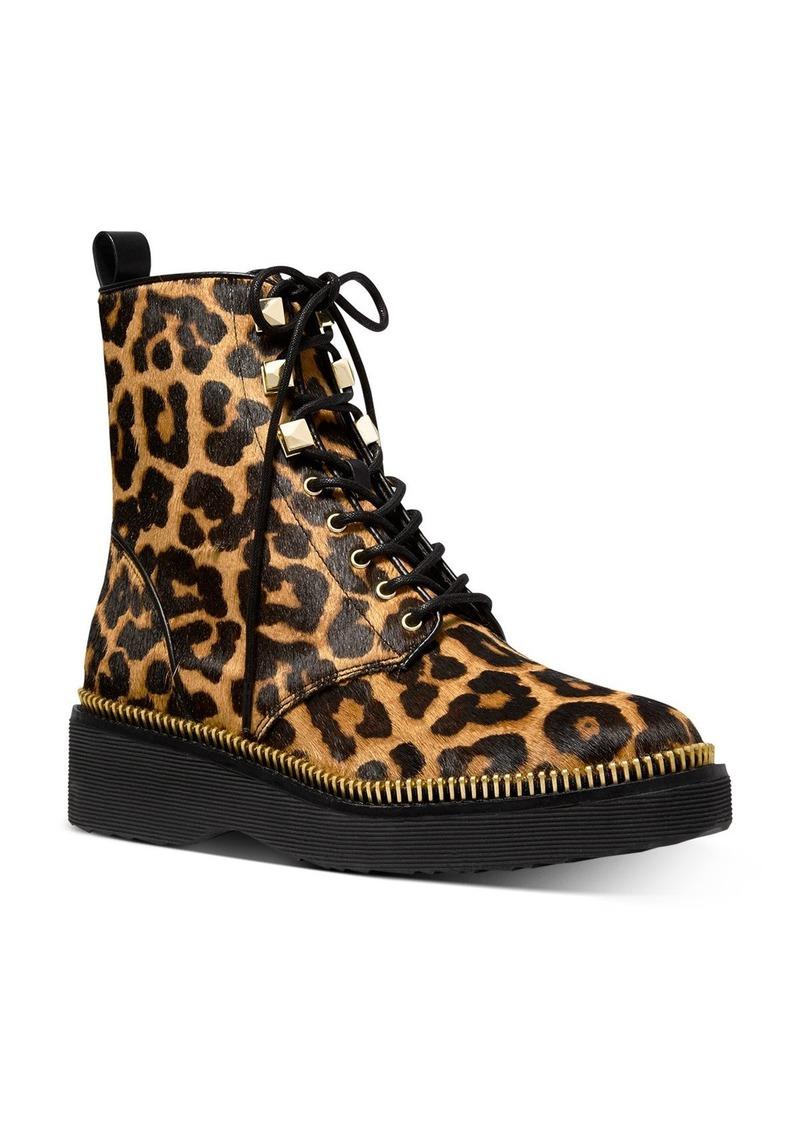 MICHAEL Michael Kors Women's Haskell Leopard-Print Boots