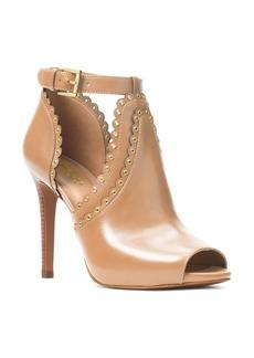 MICHAEL Michael Kors Women's Jesse Leather Peep-Toe Booties