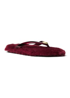 MICHAEL Michael Kors Women's Jet Set Jelly & Faux-Fur Flip-Flops