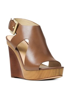 MICHAEL Michael Kors Women's Josephine Leather Platform Wedge Sandals