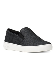 MICHAEL Michael Kors Women's Keaton Leather Logo Print Slip-On Sneakers
