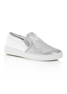 MICHAEL Michael Kors Women's Keaton Leather Perforated Slip-On Sneakers