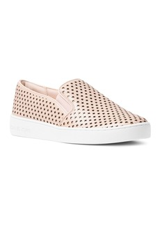 MICHAEL Michael Kors Women's Keaton Leather Star Cutout Slip-On Sneakers