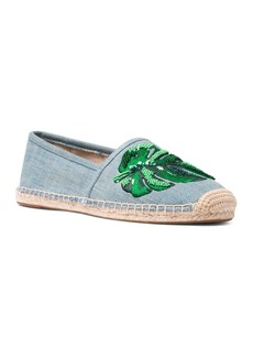 MICHAEL Michael Kors Women's Kendrick Beaded Denim Espadrille Flats
