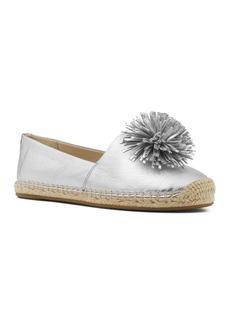 MICHAEL Michael Kors Women's Lolita Leather Pom-Pom Espadrille Flats