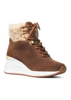 MICHAEL Michael Kors Women's Scout Fur Trim Weatherproof Booties