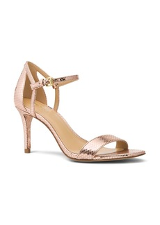 MICHAEL Michael Kors Women's Simone Leather Mid Heel Sandals